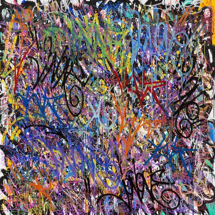 Couche après couches de couleurs - JonOne painting - 2015