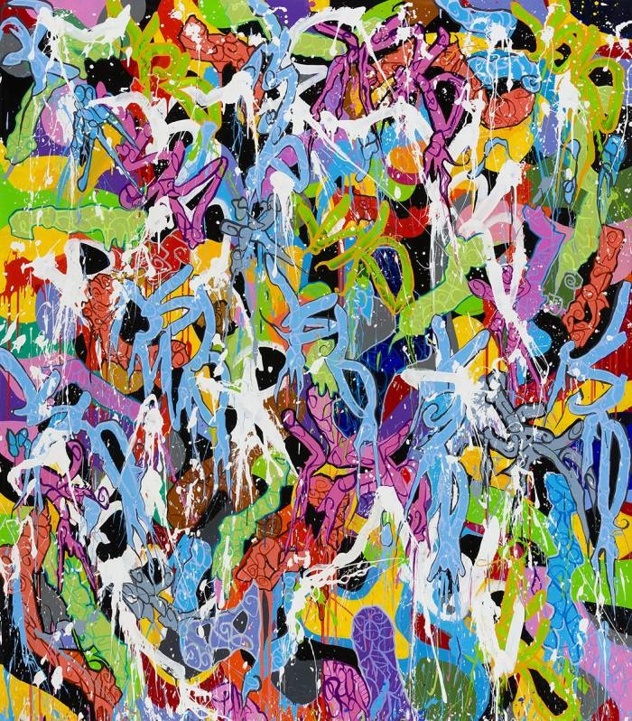 JonOne painting - Fireworks - 2015