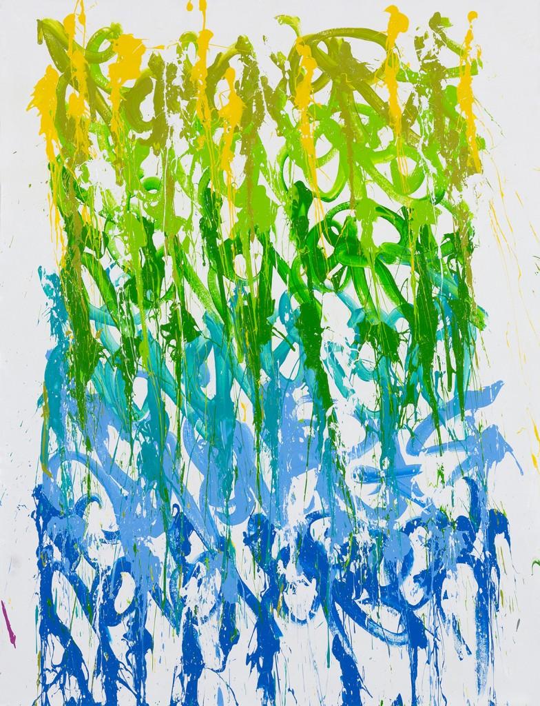 JonOne painting - God Help The Child - 2015