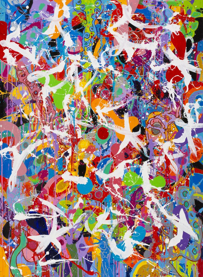 Lock Down - JonOne Painting - 2015