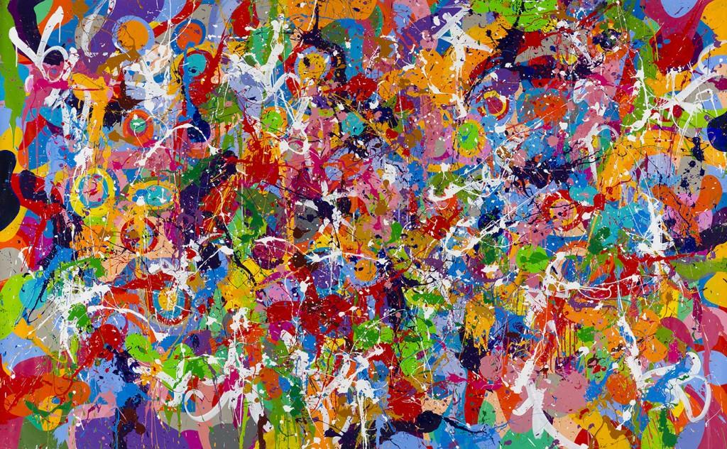 Runaway And The Pyro - JonOne painting - 2015