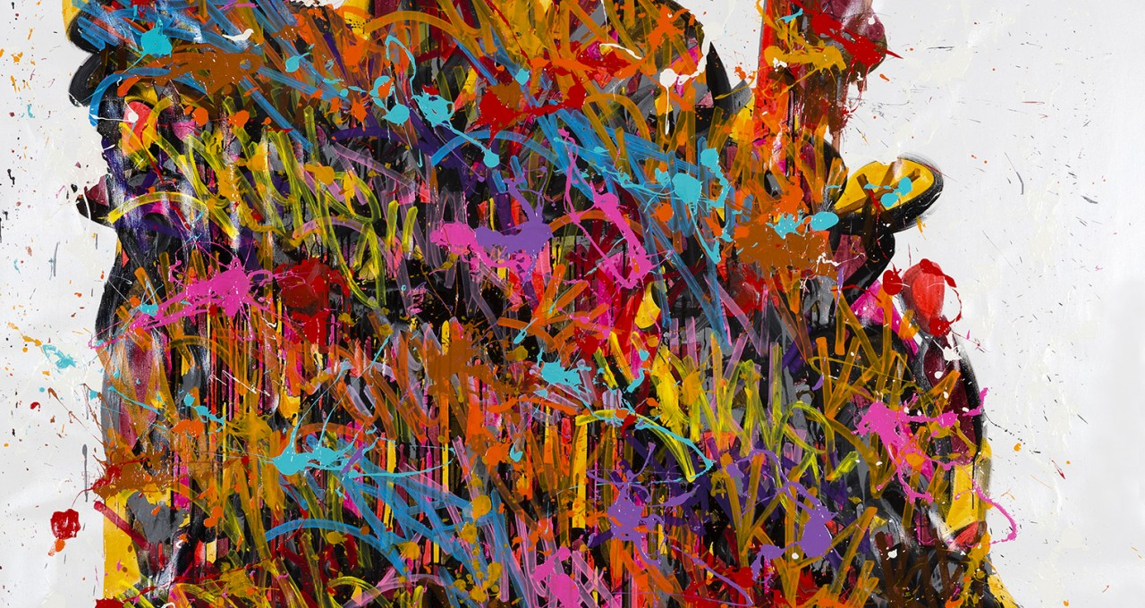 The Slide - JonOne painting - 2015