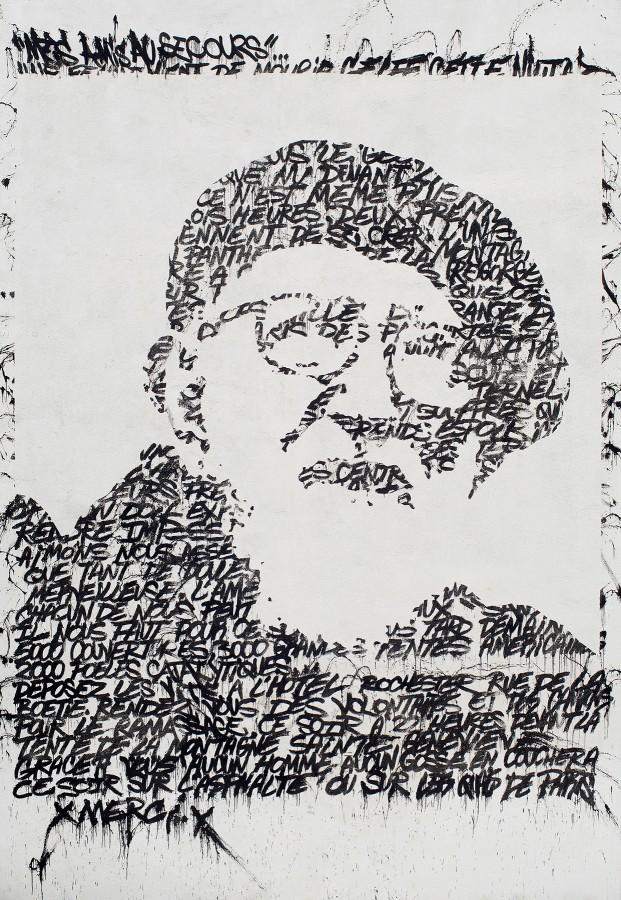 Fresque JonOne Commémoration Abbé Pierre