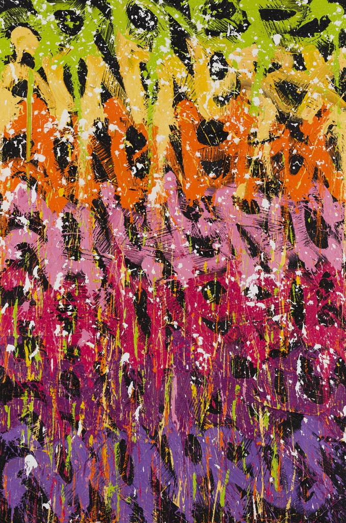 JonOne painting - Feu d'artifice 2015