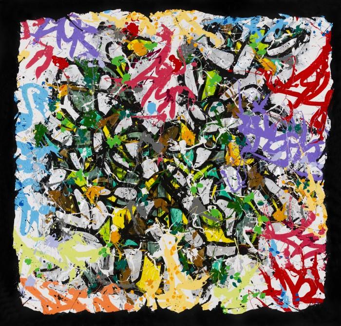 2015-Monday, acrylique et encre sur toile, 200 x 210 cm