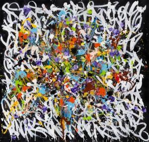 2015, acrylique et encre sur toile, 190 x 180 cm